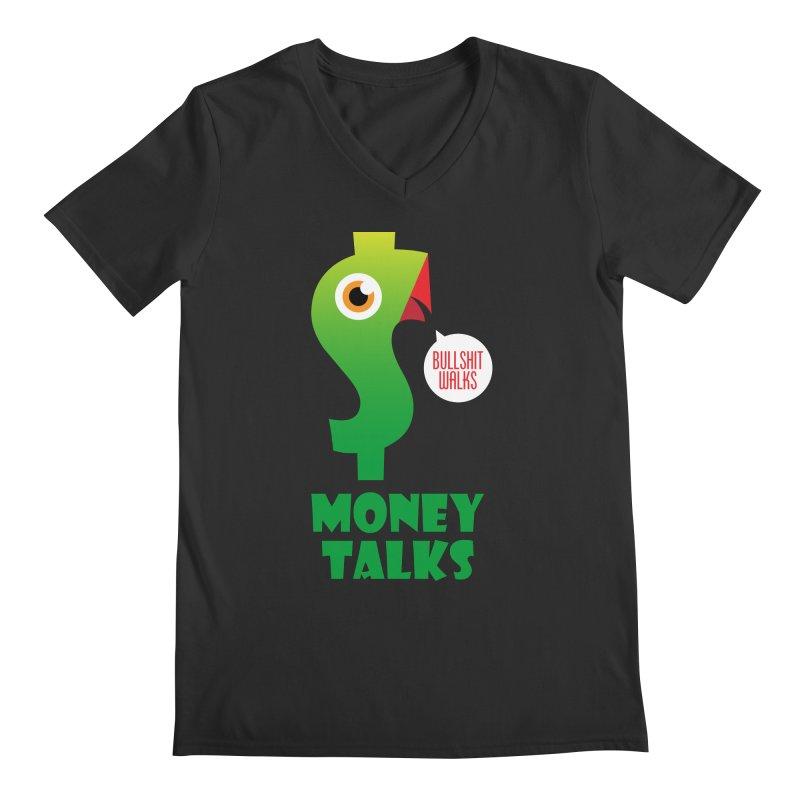Money Talks Men's Regular V-Neck by iconnico