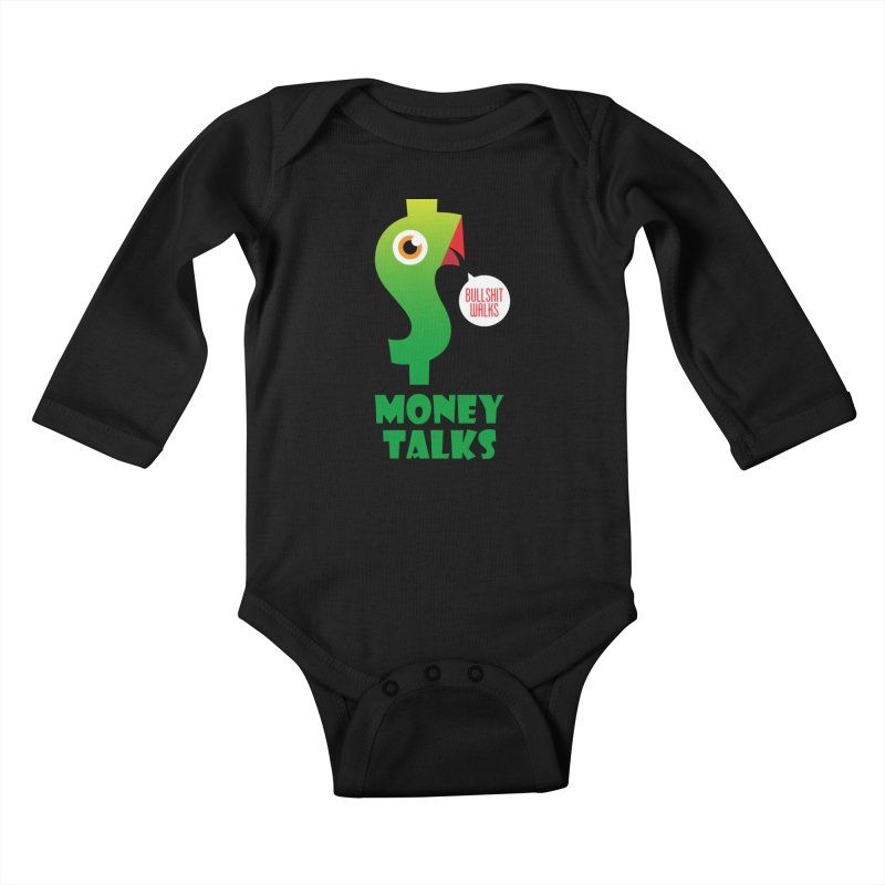 Money Talks Kids Baby Longsleeve Bodysuit by iconnico