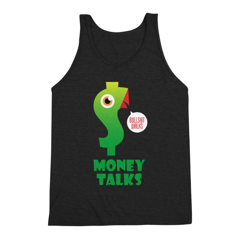 Money Talks Men's Triblend Tank by iconnico