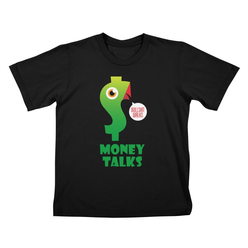 Money Talks Kids T-Shirt by iconnico