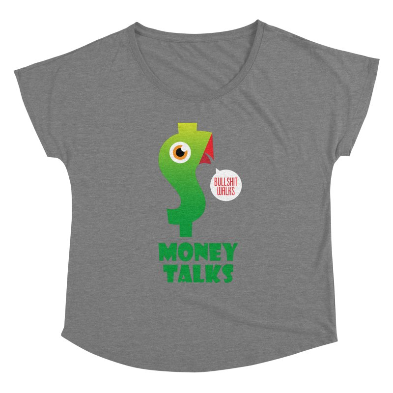 Money Talks Women's Scoop Neck by iconnico