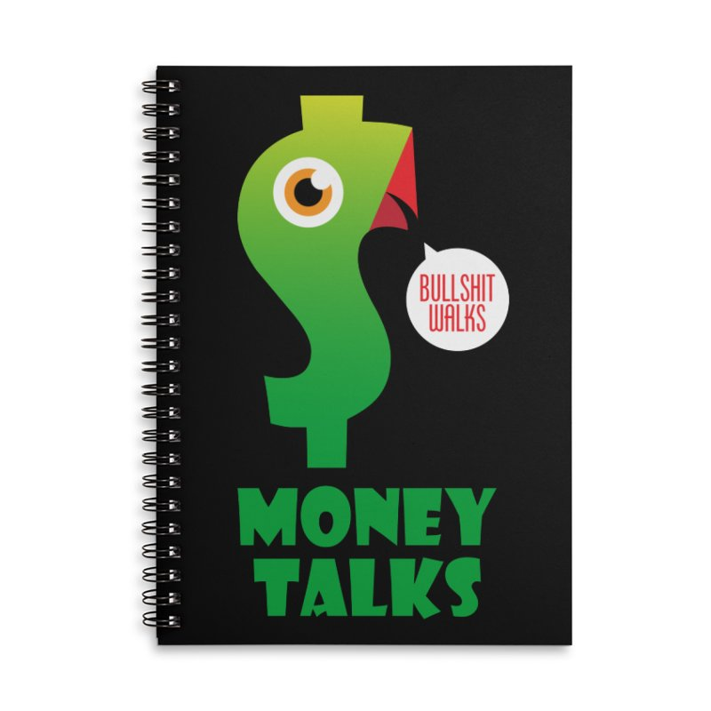 Money Talks Accessories Lined Spiral Notebook by iconnico