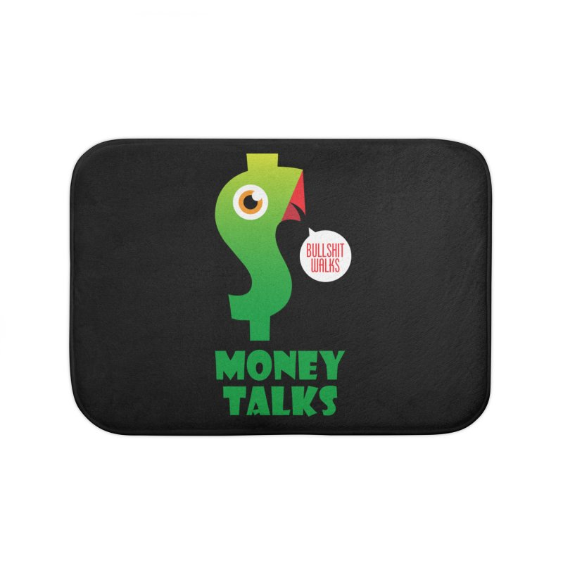 Money Talks Home Bath Mat by iconnico