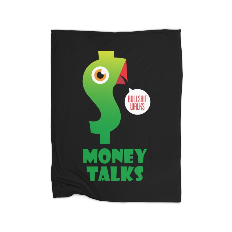 Money Talks Home Fleece Blanket Blanket by iconnico