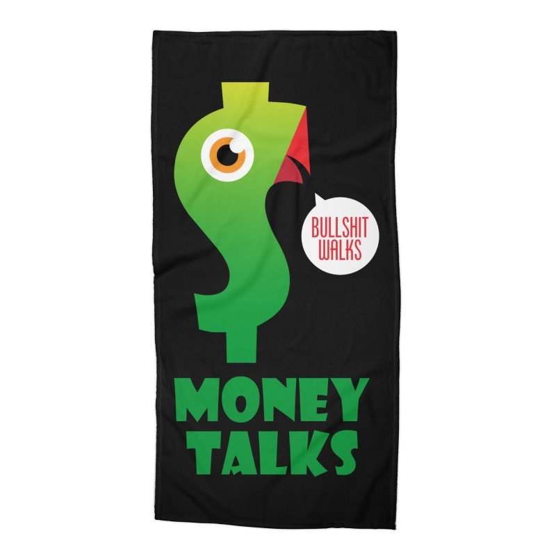 Money Talks Accessories Beach Towel by iconnico