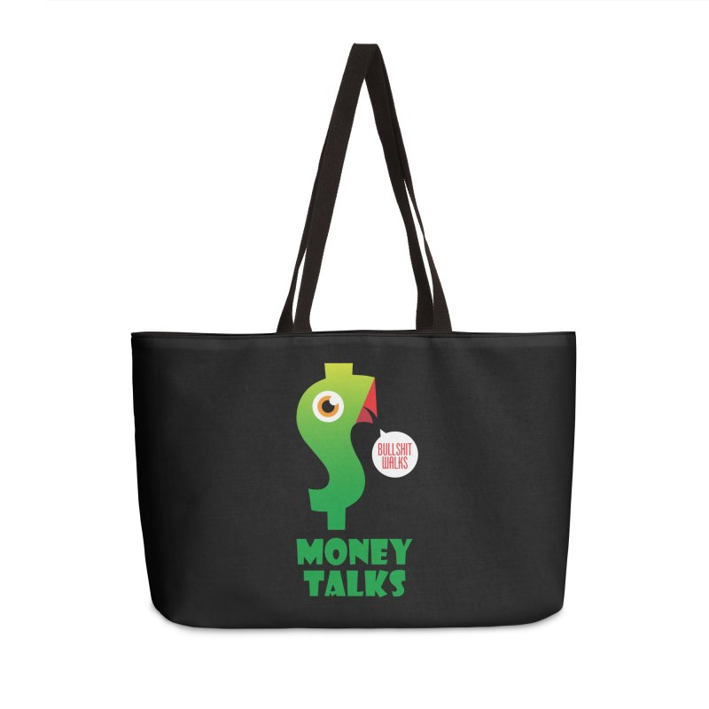 Money Talks Accessories Weekender Bag Bag by iconnico