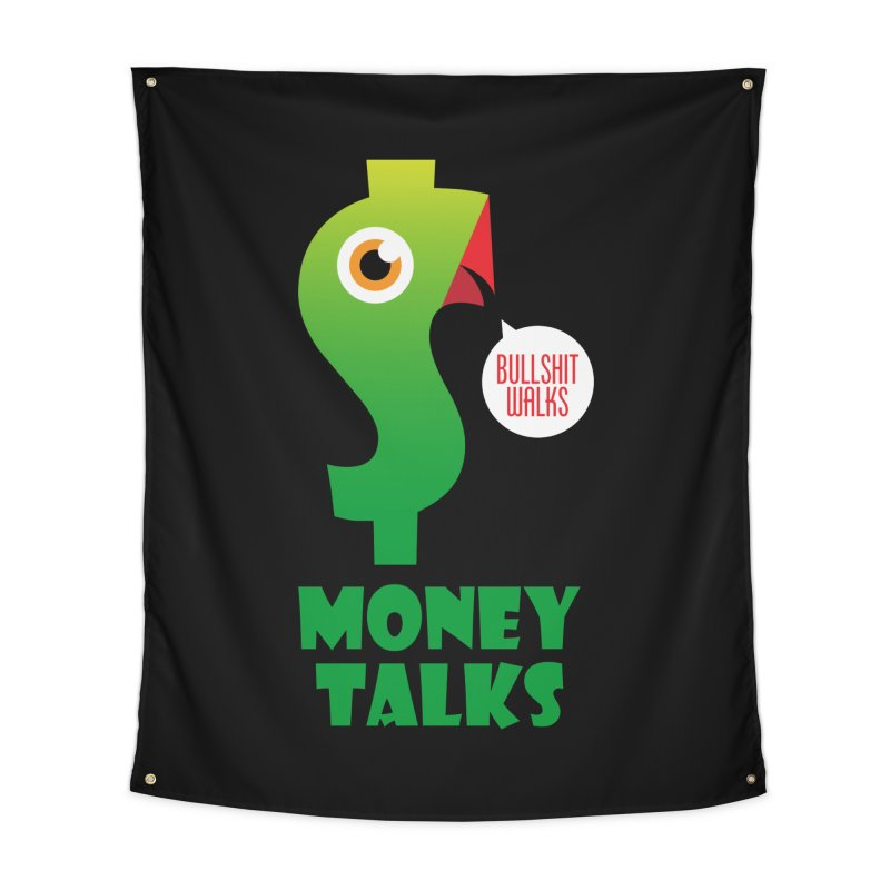 Money Talks Home Tapestry by iconnico