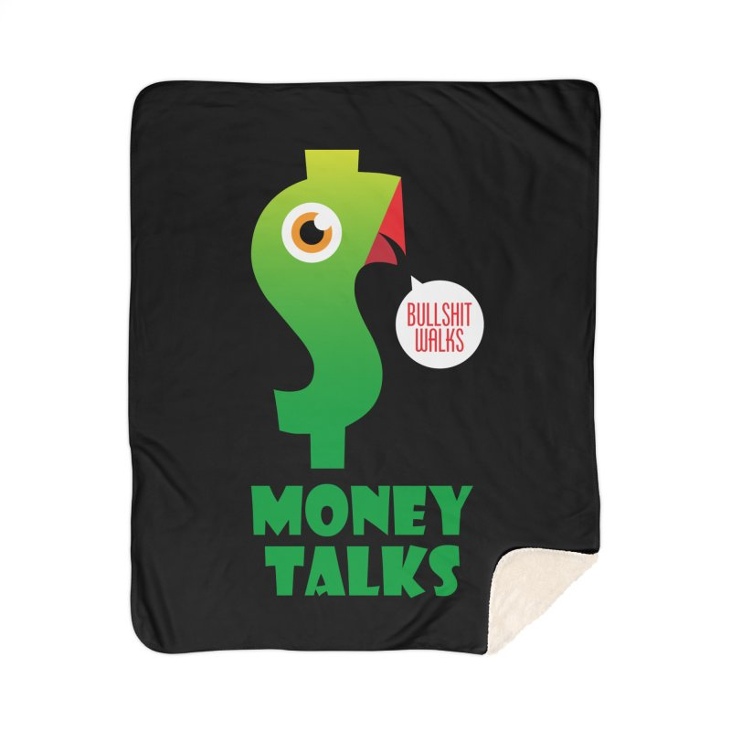Money Talks Home Sherpa Blanket Blanket by iconnico