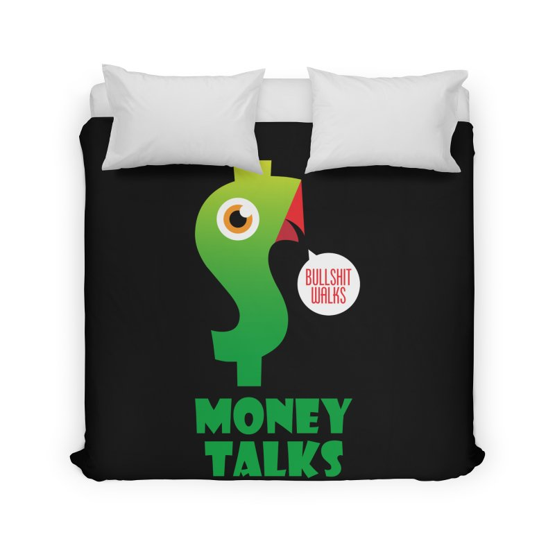 Money Talks Home Duvet by iconnico