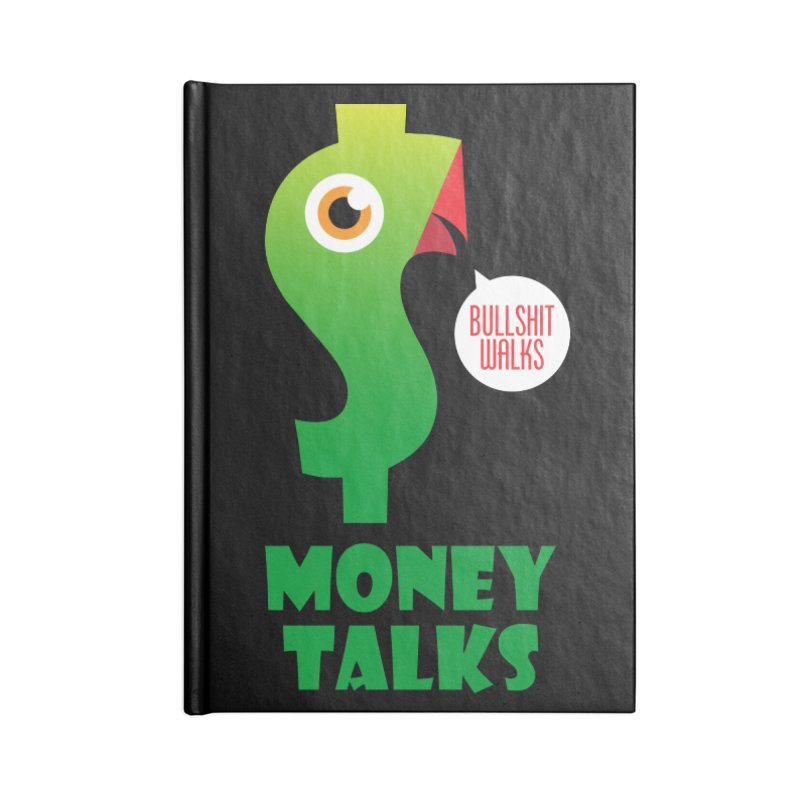 Money Talks Accessories Blank Journal Notebook by iconnico