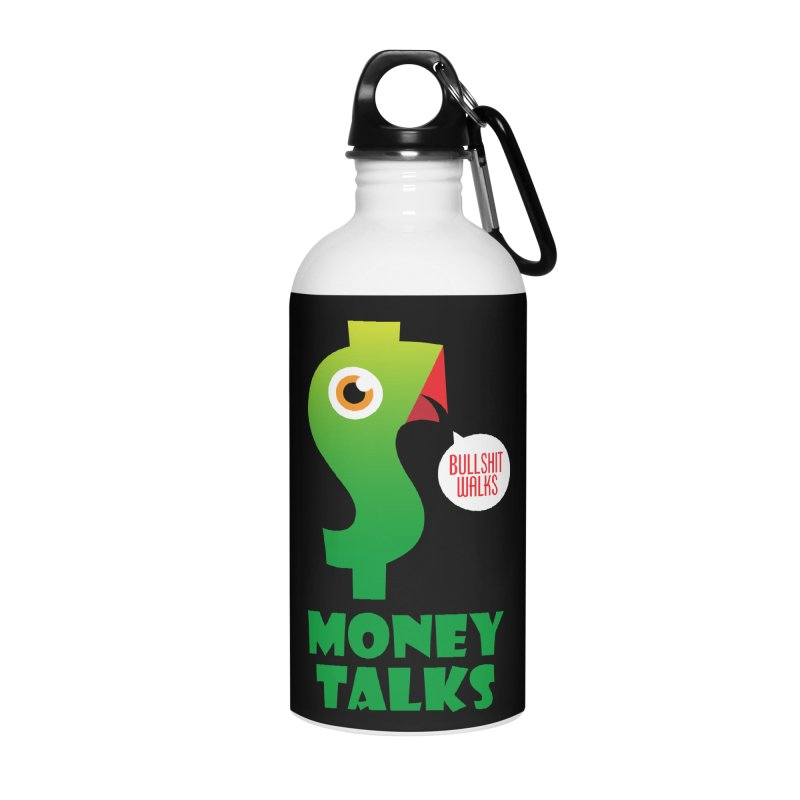 Money Talks Accessories Water Bottle by iconnico