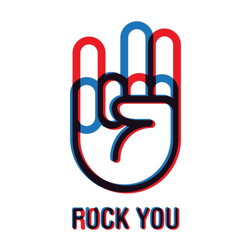 Rock/Fuck You Home Fine Art Print by iconnico