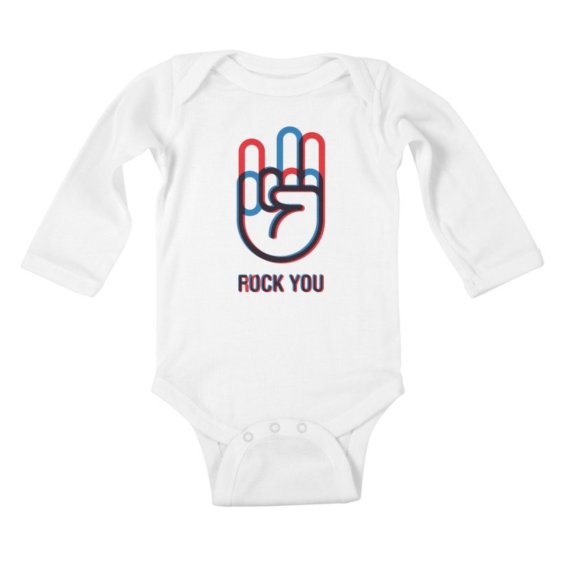 Rock/Fuck You Kids Baby Longsleeve Bodysuit by iconnico