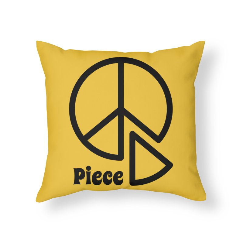Piece Home Throw Pillow by iconnico