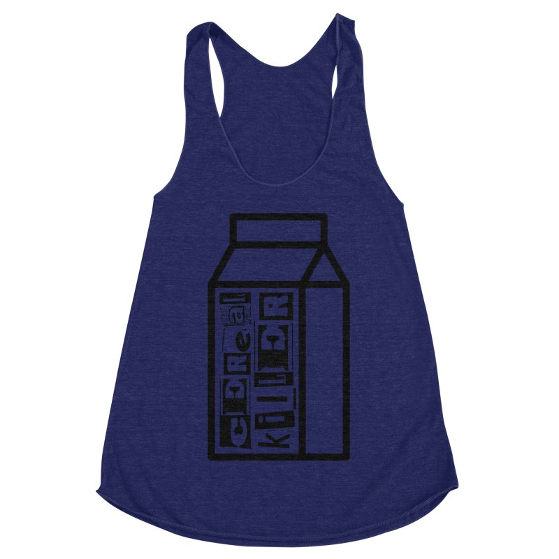 Cereal Killer Women's Racerback Triblend Tank by iconnico