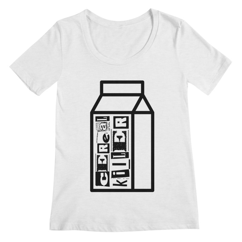 Cereal Killer Women's Regular Scoop Neck by iconnico