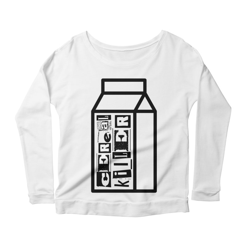 Cereal Killer Women's Scoop Neck Longsleeve T-Shirt by iconnico