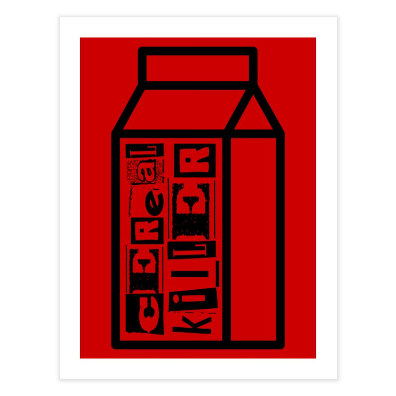 Cereal Killer Home Fine Art Print by iconnico