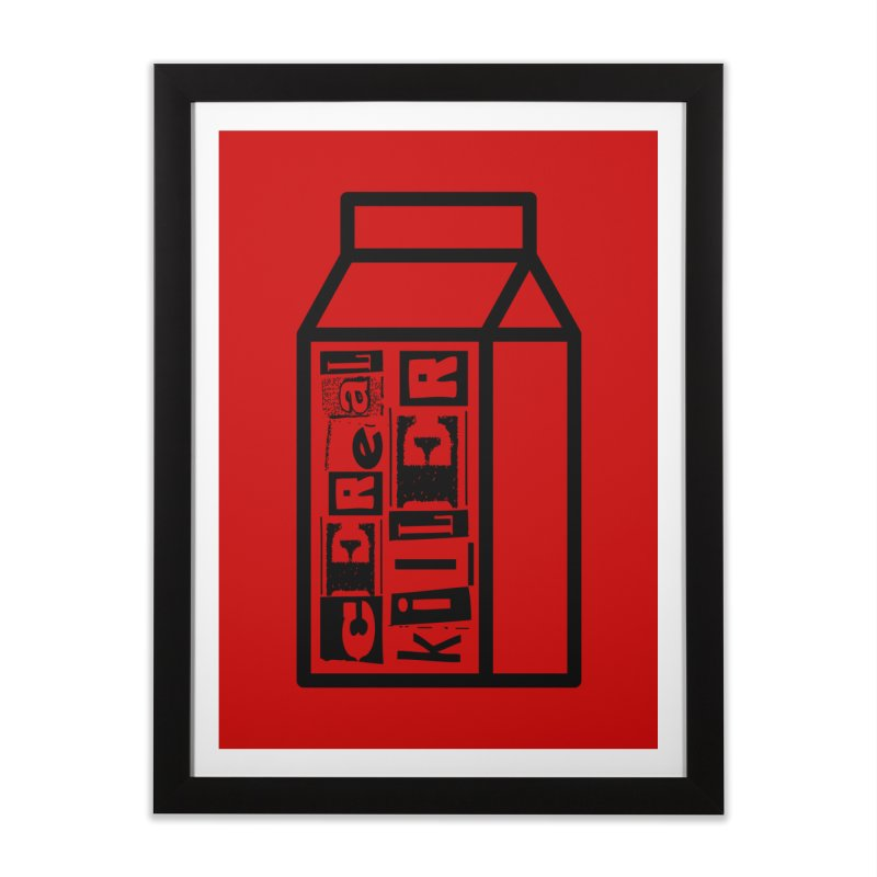 Cereal Killer Home Framed Fine Art Print by iconnico