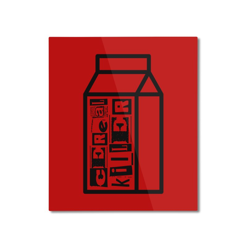 Cereal Killer Home Mounted Aluminum Print by iconnico