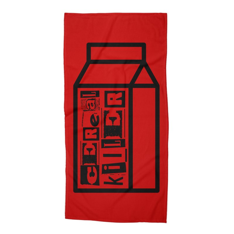 Cereal Killer Accessories Beach Towel by iconnico