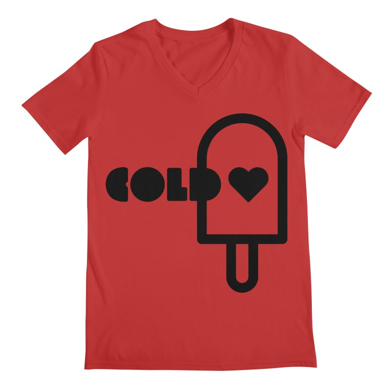 Cold Heart Men's Regular V-Neck by iconnico