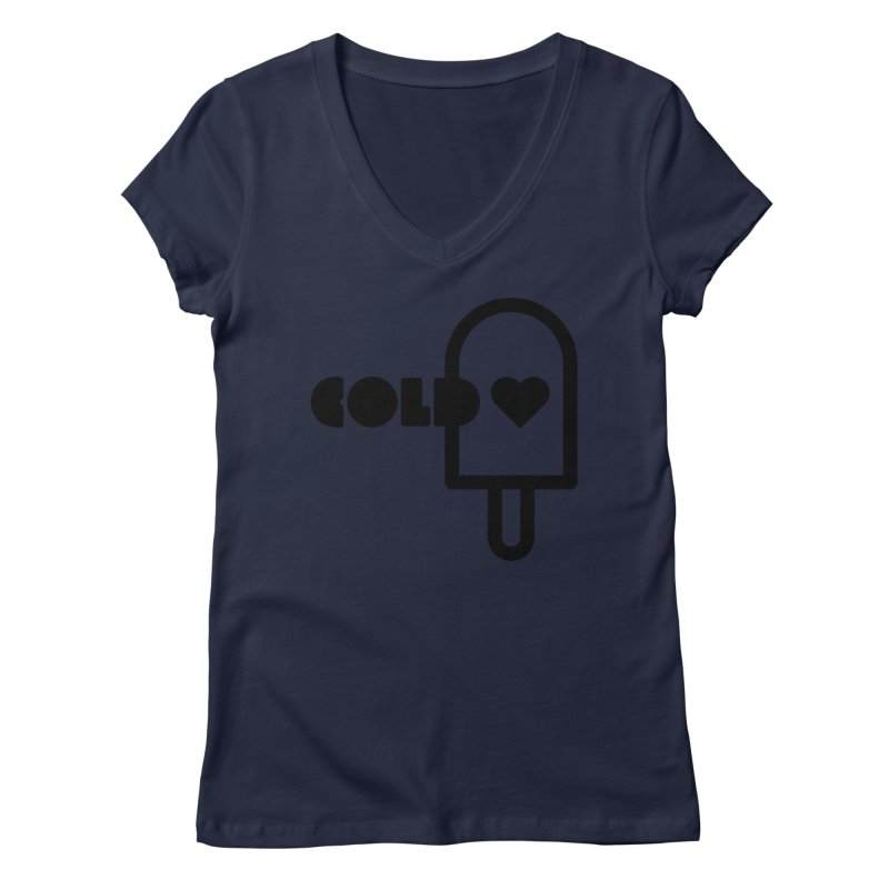 Cold Heart Women's Regular V-Neck by iconnico