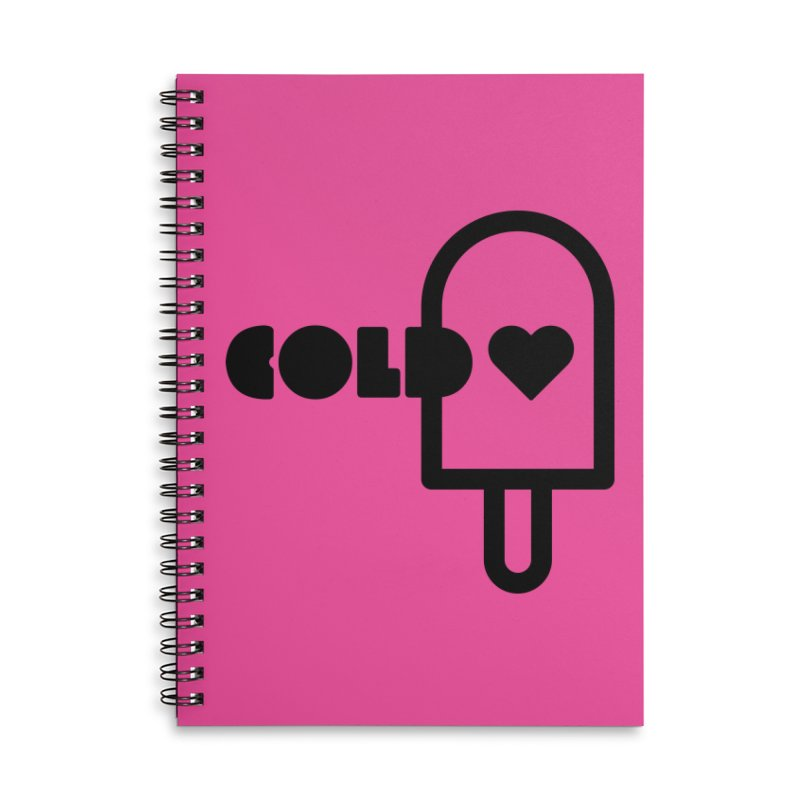 Cold Heart Accessories Lined Spiral Notebook by iconnico