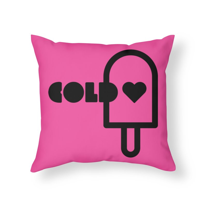 Cold Heart Home Throw Pillow by iconnico