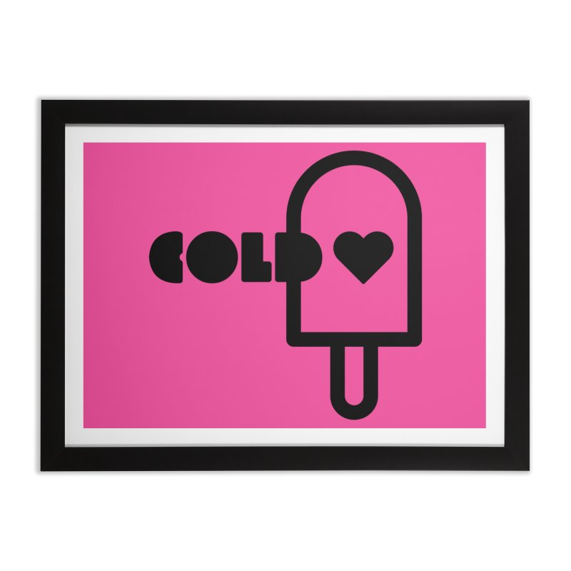 Cold Heart Home Framed Fine Art Print by iconnico