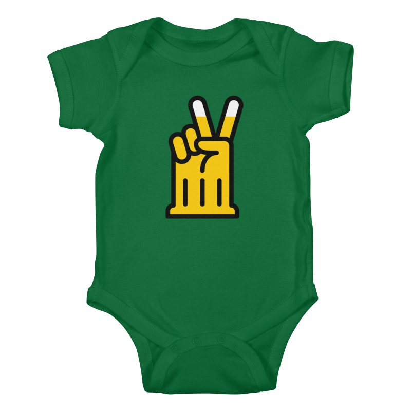 Two Beers Kids Baby Bodysuit by iconnico