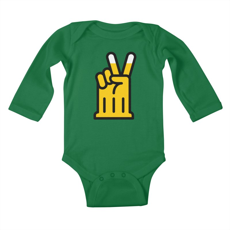 Two Beers Kids Baby Longsleeve Bodysuit by iconnico