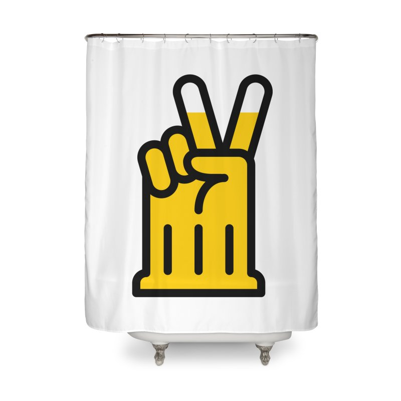 Two Beers Home Shower Curtain by iconnico