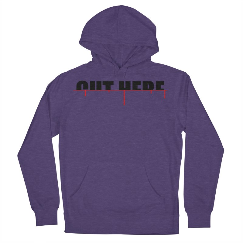 Cut Here Women's French Terry Pullover Hoody by iconnico