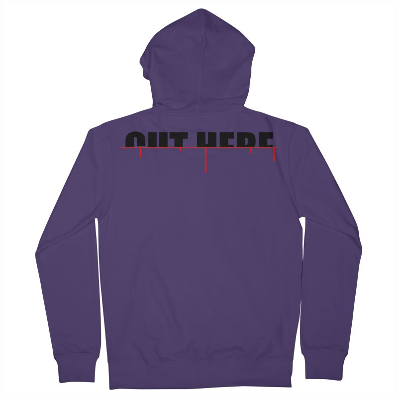 Cut Here Women's French Terry Zip-Up Hoody by iconnico