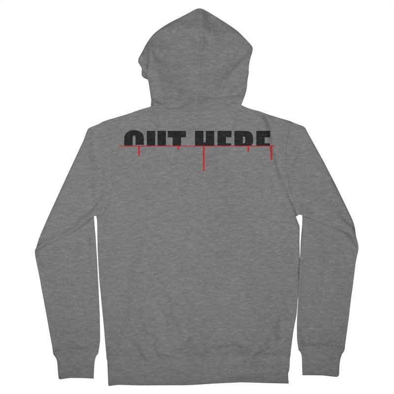 Cut Here Men's French Terry Zip-Up Hoody by iconnico