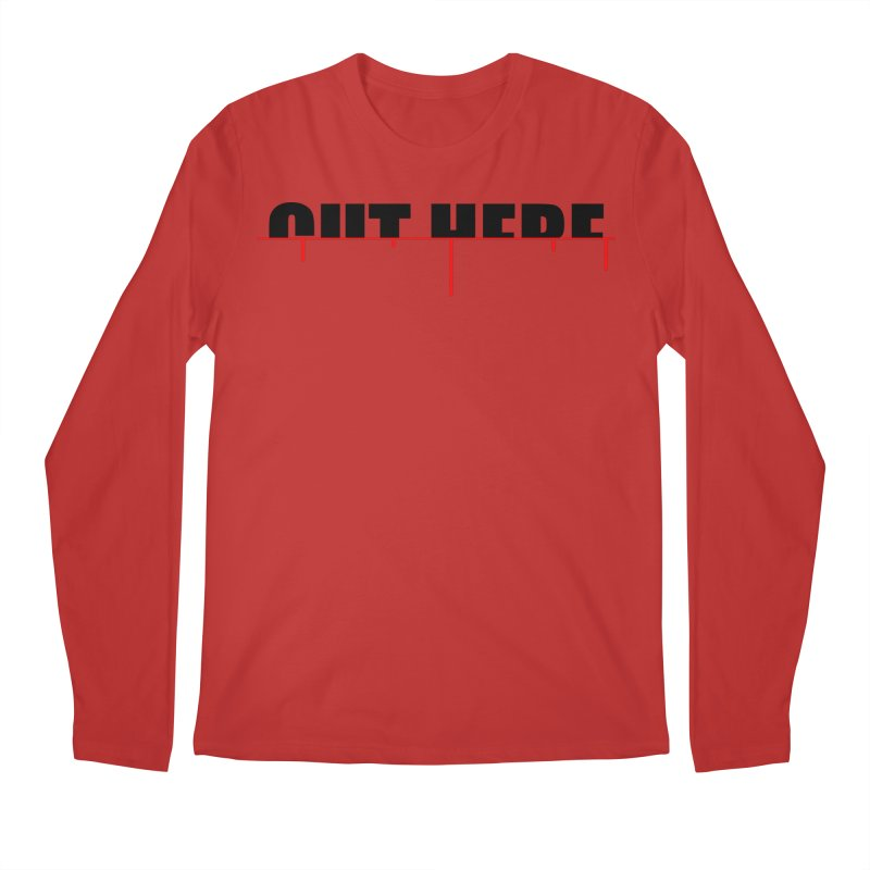 Cut Here Men's Longsleeve T-Shirt by iconnico