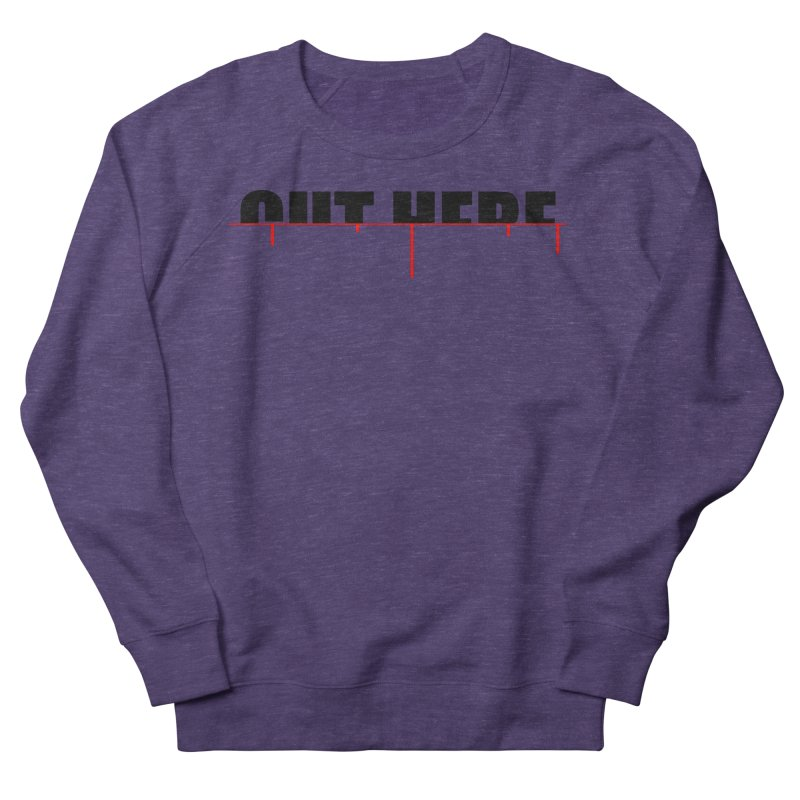 Cut Here Women's French Terry Sweatshirt by iconnico