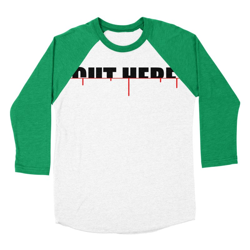 Cut Here Men's Baseball Triblend Longsleeve T-Shirt by iconnico