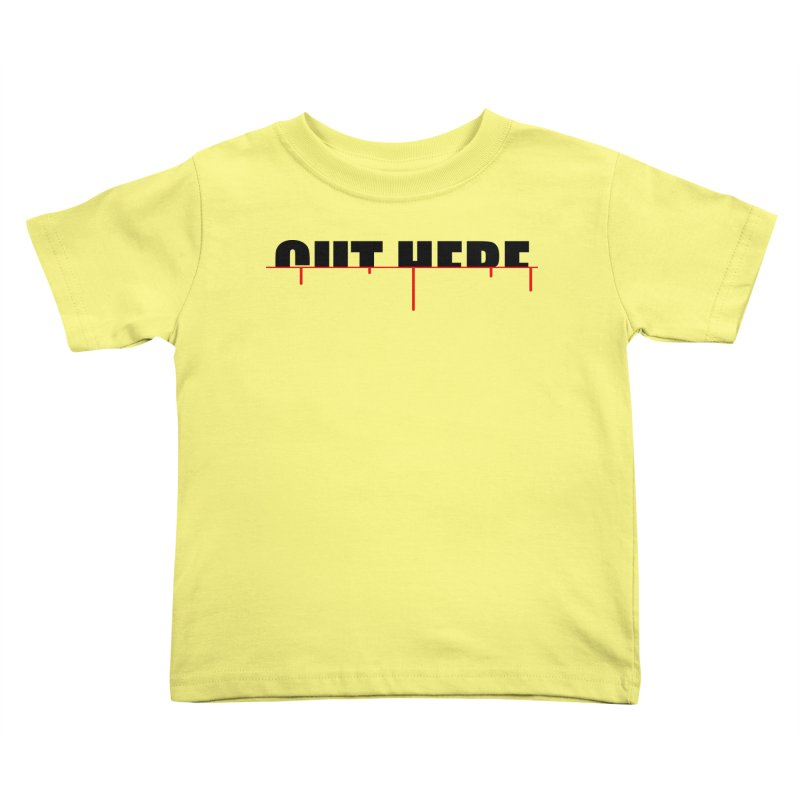 Cut Here Kids Toddler T-Shirt by iconnico