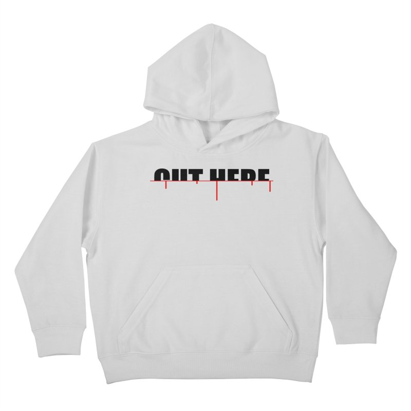 Cut Here Kids Pullover Hoody by iconnico