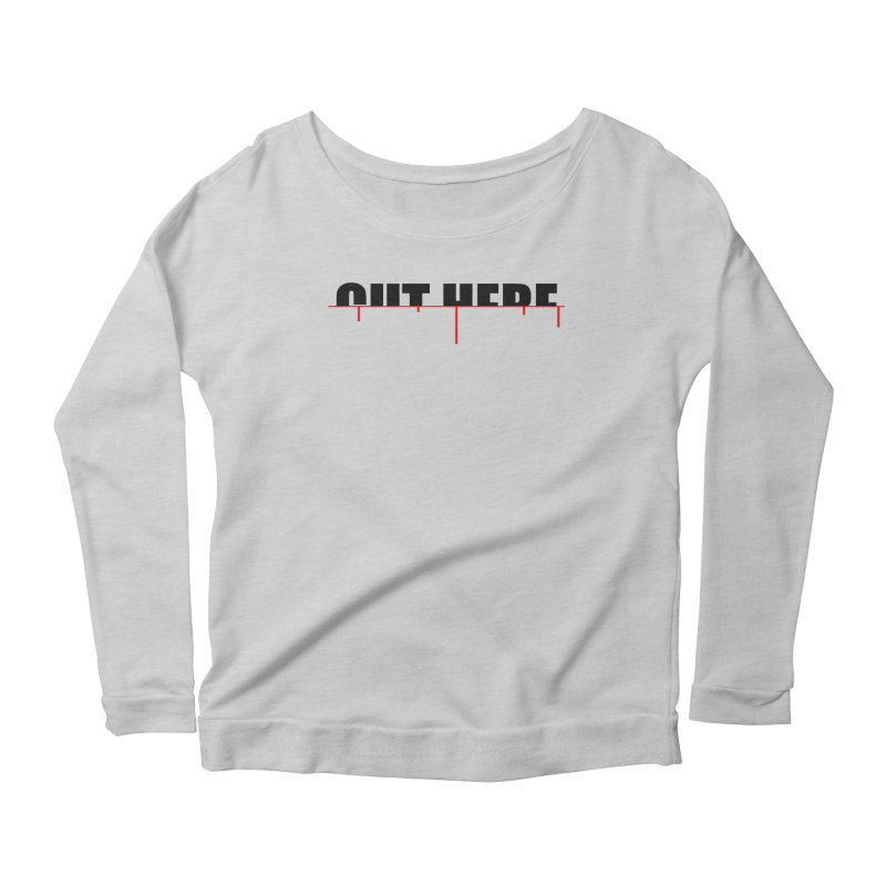 Cut Here Women's Scoop Neck Longsleeve T-Shirt by iconnico