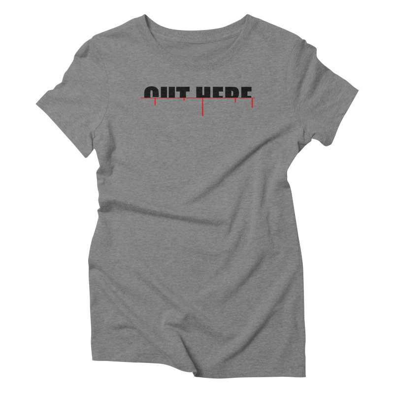 Cut Here Women's Triblend T-Shirt by iconnico