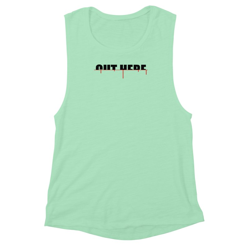 Cut Here Women's Muscle Tank by iconnico