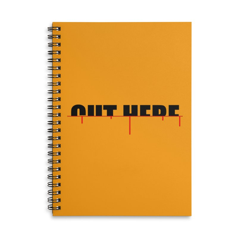 Cut Here Accessories Lined Spiral Notebook by iconnico