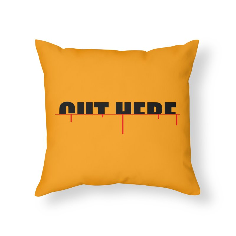 Cut Here Home Throw Pillow by iconnico