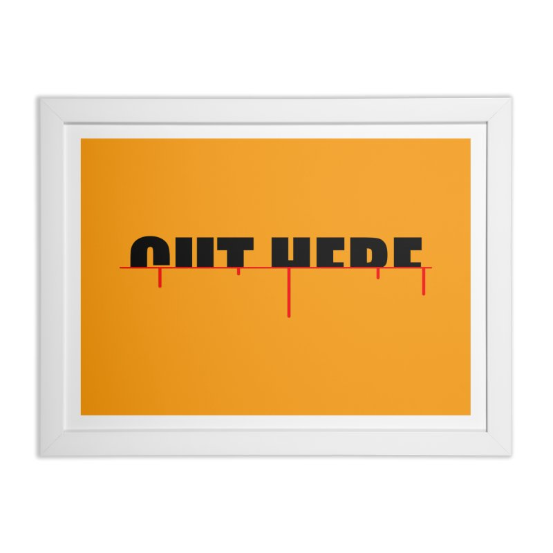 Cut Here Home Framed Fine Art Print by iconnico