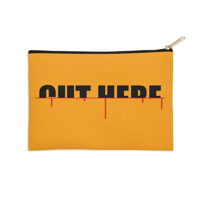Cut Here Accessories Zip Pouch by iconnico