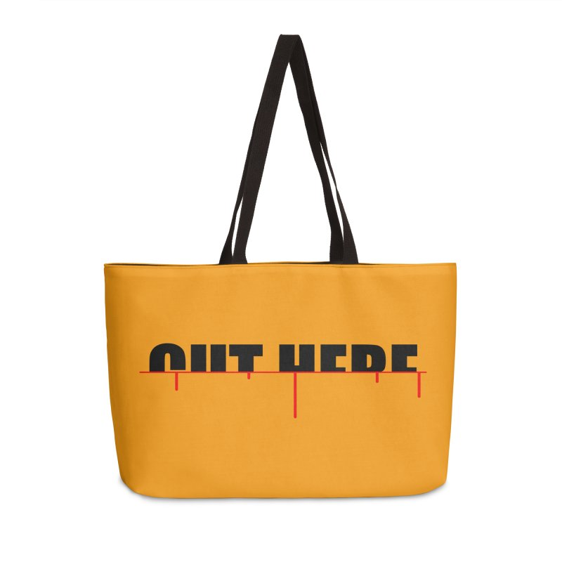 Cut Here Accessories Weekender Bag Bag by iconnico