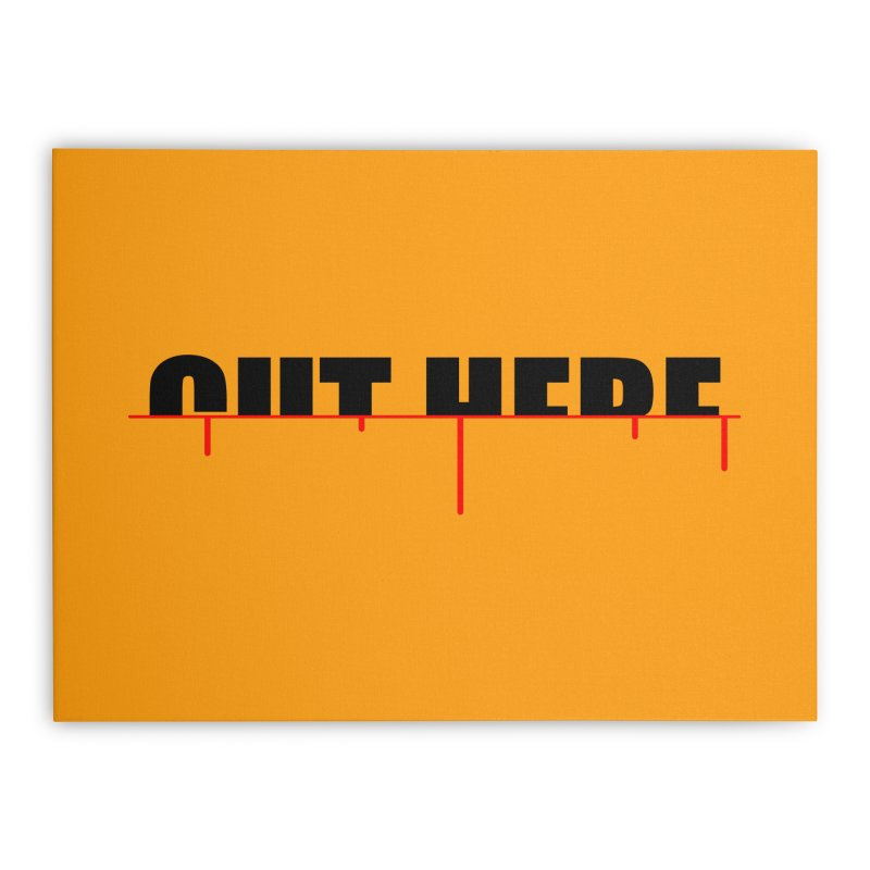 Cut Here Home Stretched Canvas by iconnico